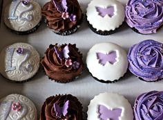 More sparkling cupcakes by Cakes by sugar