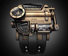 """Fournier The Lever Machine """"Steampunk"""" Watch"""