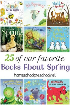 Fill your book basket with one or more of these children's picture books about SPRING! Here's a list of 25 books about spring to get you started! | homeschoolpreschool.net via @homeschlprek