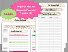 Monthly Budget and Finance Bundle | Planner Printables