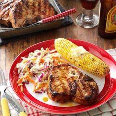 Marinated Pork Chops Recipe from Taste of Home -- shared by Jean Neitzel, Beloit, Wisconsin