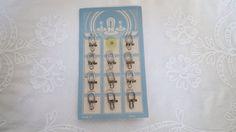 Vintage collar studs on original card by karmolijntje on Etsy SOLD