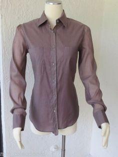Loro Piana Stretch blouse shirt Size 42 $1250.00  #LoroPiana #ButtonDownShirt #CasualDressey