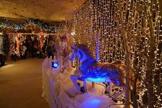 The Valkenburg Christmas market in the Netherlands. Each year during holiday season, Valkenburg transforms in a real Christmas town featuring Christmas markets in caves.