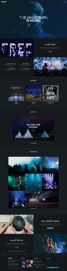 Muxe is a great design premium @PSD #template for #artists singers, #band or musical websites with 5 homepage and 56+ PSD pages download now➯ https://themeforest.net/item/muxe-media-oriented-musical-psd-template/16966056?ref=Datasata