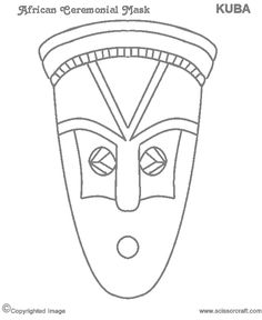 African Masks For Kids Templates african tribal mask template - bing images