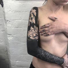 1337tattoos — thisisthemaxwellmurder: Blackwork sleeve I've...