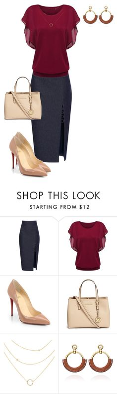 """""""Untitled #718"""" by angela-vitello on Polyvore featuring Cushnie Et Ochs, Christian Louboutin and Michael Kors"""