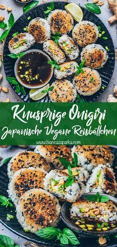 Tasty Vegetarian Recipes, Veggie Recipes, Asian Recipes, Cooking Recipes, Healthy Recipes, Vegan Sushi, Vegan Foods, Vegan Dishes, Vegan Japanese Food
