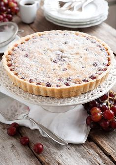This Gluten Free French Grape Tart recipe is fun and flirty. It's a lovely pastry perfect for an elegant dessert or afternoon tea party. Gf Recipes, Dessert Recipes, Cooking Recipes, Grape Tart Recipes, Gluten Free Desserts, Delicious Desserts, French Tart, Free French, Elegant Desserts