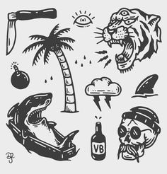 tattoo designs ideas männer männer ideen old school quotes sketches Tattoo Old School, Old School Tattoo Designs, Future Tattoos, Tattoos For Guys, Black Tattoos, Small Tattoos, Desenhos Old School, Surf Tattoo, Skate Tattoo