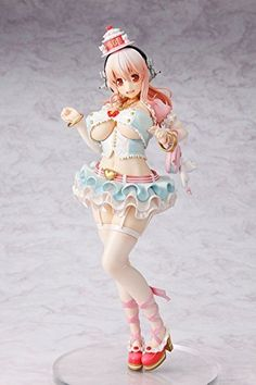 """From Kadokawa. Celebrate the 10th anniversary of nitro and Super Sonico with this stunning figure of Sonico all dressed up for the party! based on the cover illustration for the 10th anniversary Sonico book, she stands 10.5"""" tall and comes with a simple base for... more details available at https://perfect-gifts.bestselleroutlets.com/gifts-for-teens/toys-games-gifts-for-teens/product-review-for-kadokawa-super-sonico-17-scale-pvc-vinyl-figure/"""