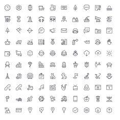기하학적 모양의 벡터 기반 EGO 100 Angular Icons Set :: 디자인 로그(DESIGN LOG)