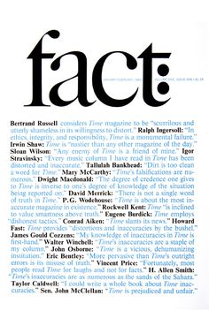 cover of Fact magazine no.1 by Herb Lubalin (1964)