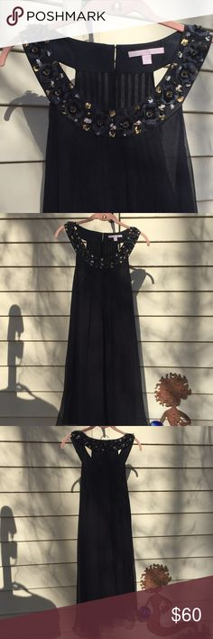 """🌚Rebecca Taylor Dress🌚 Look stunning at all the holiday parties in this embellished Rebecca Taylor dress!!! The dress is in excellent condition. All the beading is top notch! Approximately 35"""" from shoulder to hem. Rebecca Taylor Dresses"""