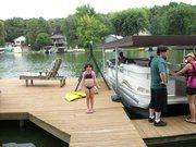 Caitlin on the dock.