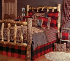 Southwest style -- love the home-made look of the bed