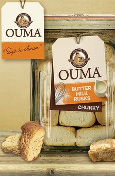 Ouma\'s Rusks • Buttermilk Chunky Rump Steak, Biltong, South Africa, Pantry, Place Card Holders, African, Teaching, Recipes, Pantry Room