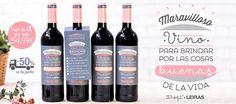 Oferta: pack de 4 botellas de vino tinto Maravilloso Leiras by @muymolon. DO Ribera del Duero. Amigos de las bodegas.