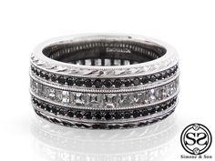 Carre Men's Diamond Wedding Band by Simone & Son | Orange County Custom Jewelry