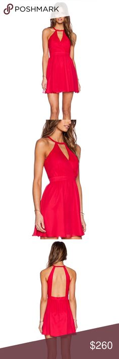 NWT Backless Jay Godfrey Dress This breathtaking NWT cocktail dress was previously on REVOLVE and is now sold out everywhere. Perfect wedding guest attire! The color is listed as red by REVOLVE but is definitely more of a pink in person. The flowy flirty fit is equal parts fun and sexy. The dress is absolutely beautiful and I want to wear it so badly I'm just a little too flat chested to pull it off. Size 0. Jay Godfrey Dresses Midi