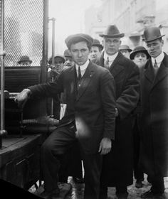 Industrial Workers of the World leader Frank Tannenbaum stepping onto a truck.