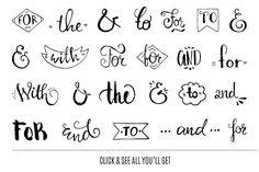 Handdrawn Catchwords Set (PNG, EPS) ~ Illustrations on Creative Market