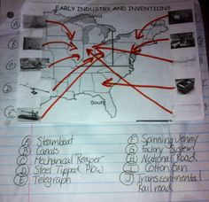 Interactive notebooks in Social Studies Would be great for maps (rivers, continents and physical features)
