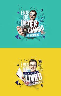 ICBEU - É mais que aprender inglês, É ICBEU on Behance