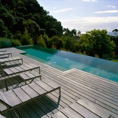 Black Tiles With Bluestone And Spotted Gum Decking Our Pools Pinterest Black Tiles