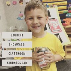 Our students made kindness jars to bring home.  Purpose: witness a kindness act, write it down and put it in the jar.  As a family, read through all the kindness acts as a family.  This amazing student wanted to make a second jar to bring to school for hi