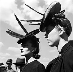 Paris fashion show,photo by Roger Schall, 1940s
