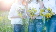 Friendship Photoshooting with flowers