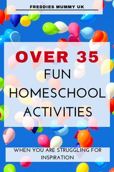 Over 35 fun homeschool activities when you are struggling for inspiration. Educational Activities, Learning Activities, Kids Learning, Activities For Kids, Indoor Activities, Preschool Ideas, Preschool Crafts, Homeschool Kindergarten, Homeschool Curriculum