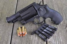 The Governor, Smith & Wesson's answer to Taurus's Judge. .45LC/.410 shotshells