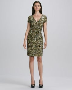 Leopard-Print Dress by Carmen by Carmen Marc Valvo at Neiman Marcus.