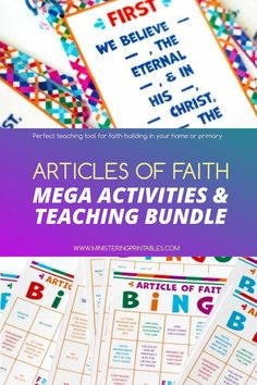 Kids who learn the Articles of Faith are better equipped to understand our doctrine and teachings. But it can be so challenging! Some kids are good at memorizing and some are not. Some kids want to learn them and some kids have no desire. #ArticlesofFaith #TeachingBundle #Primary2021 #PrimaryPrintables #Ministering #MinisteringHandouts Primary Activities, Enrichment Activities, Church Activities, Relief Society Lessons, Lds Blogs, Fhe Lessons, Lds Primary, Visiting Teaching, Folder Games
