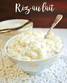 recette riz au lait vanille
