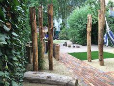 #natuurlijkspelen #kastanjepalen #hangmat #zitten #liggen #gebakkenklinker #rembrandt #halfverharding #bamboe