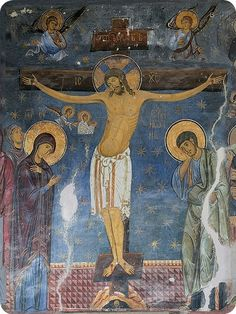 The Crucifixion of Christ - Self-Adhesive Icon from the Workshop of St…