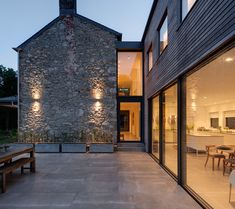 New contemporary dwellings, extensions, conversions and commercial developments, frequently working within the confines of Dartmoor National Park. Cottage Extension, House Extension Design, Metal Building Homes, Building A House, Barn Conversion Exterior, Barn Conversions, House Designs Ireland, Barn Renovation, Modern Farmhouse Exterior