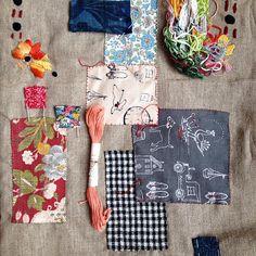 Work in progress here at #jessiechorleytheshop #embroidery #patchwork #jessiechorley #stitching #158acolumbiard #shorditch
