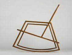 Rockin Modern Rocking Chair Wood Furniture Design Bench Swivel