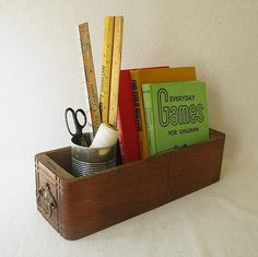 vintage sewing machine drawer for desktop organization