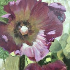 oil on panel, 15 x 15 cm Hollyhock, Oil, Fine Art, Plants, Cotton, Painting, Painting Art, Paintings, Planters