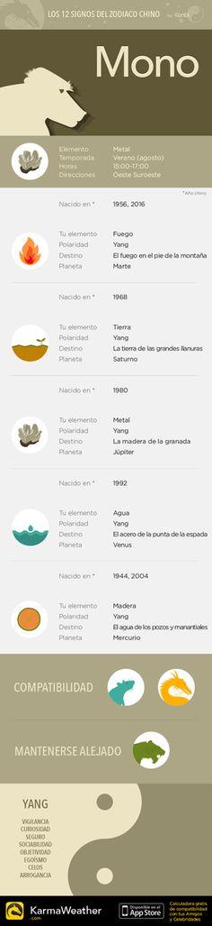 Los 12 signos astrológicos del zodiaco chino: Mono