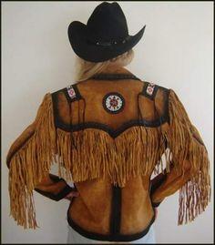 Leather fringe jacket. #fringe