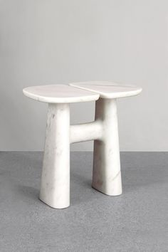 Isamu Noguchi, Hanna Eshel, Barbara Hepworth — some of our favorite Modernist sculptors came to mind when we first saw Guillaume Delvigne's new stools.