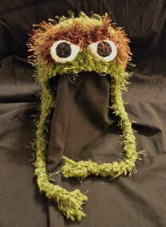 Crochet Oscar the Grouch Hat by ContrarywiseDesigns on Etsy - no pattern (Found Caleb's hat for next winter!)