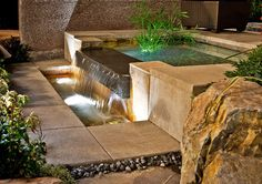 Landscaping - outdoor water feature.